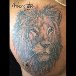 lion-chest-tattoo
