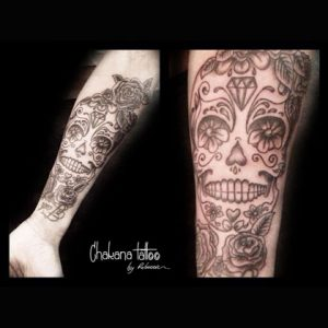sugar-scull-arm-tattoo-sq